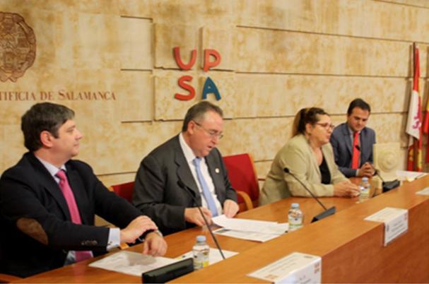 De izquierda a derecha Carlos Diez, Vidal, Inmaculada y Molina