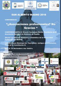 Cartel Conferencia dia San Alberto Magno 2016