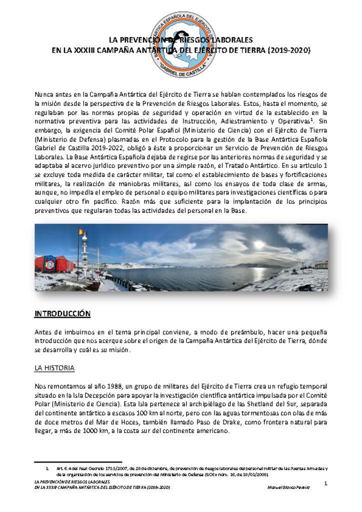 thumbnail of ARTICULO ACTIVIDADES PRL ET XXXIII CAMPANÞA ANTARTICA